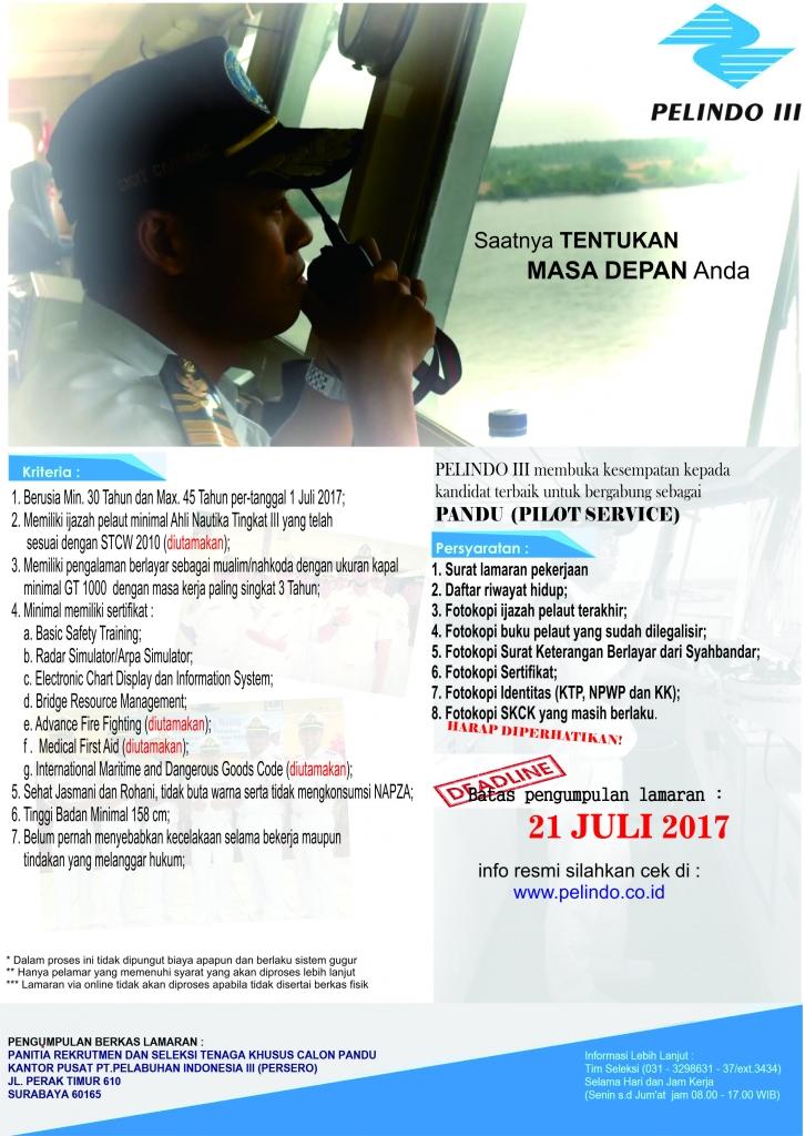 Lowongan Kerja Pelindo III 2017