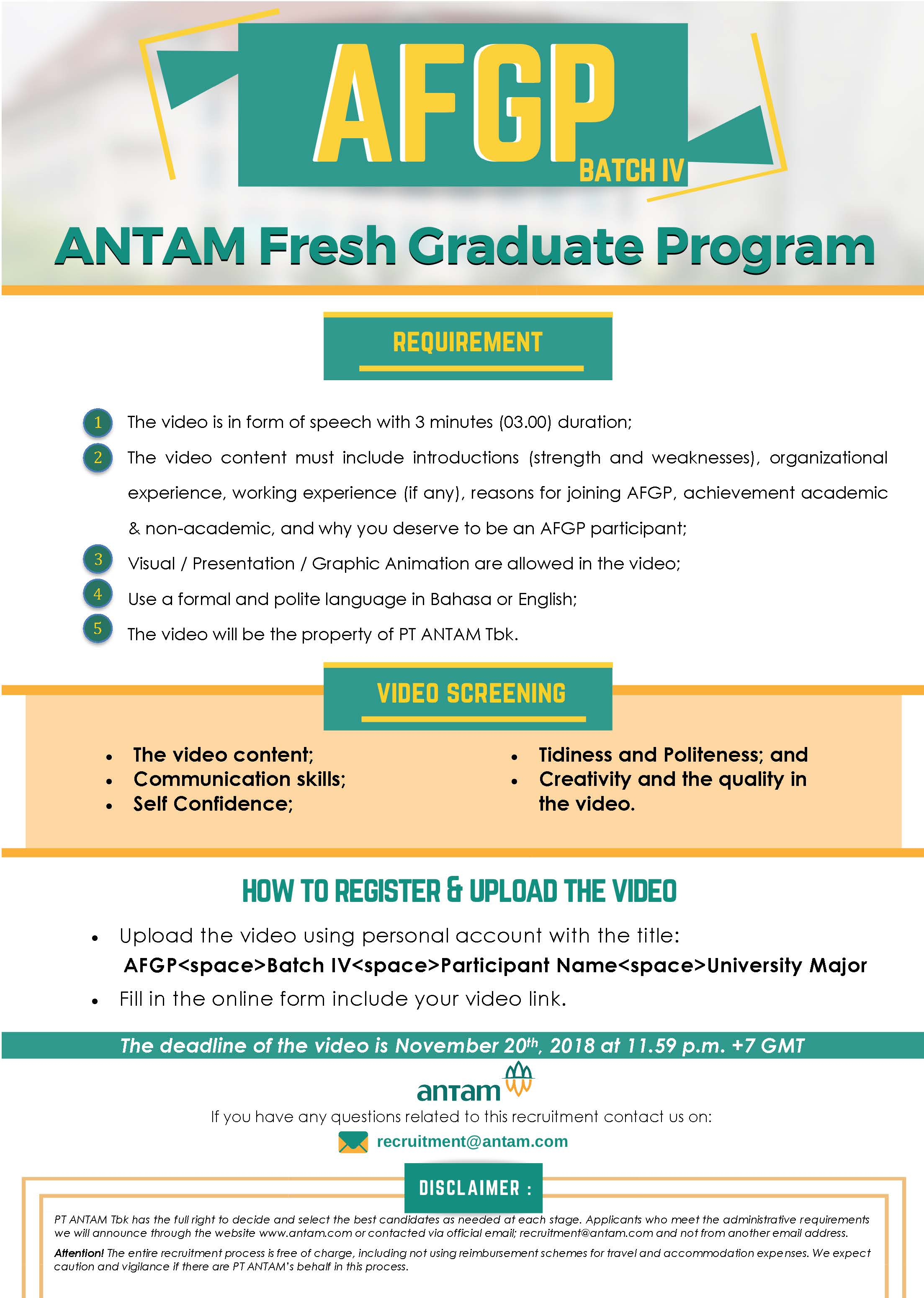 rekrutmen antam 2018, recruitment antam